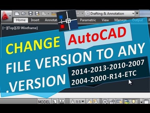 Change AutoCAD file version to any version 2015 2014 2013 2010 2007 2004  2000 Converter
