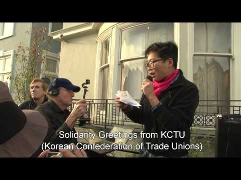 Solidarity Rally for South Korean Rail Workers, San Francisco, 2/25/2014