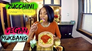 Delicious Zucchini Noodles | MUKBANG | Talk About My Real Life Situations