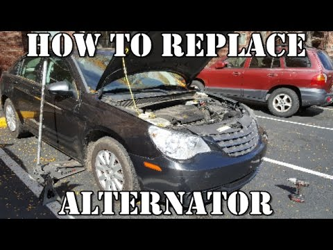 How To Replace Alternator 2007 2010 Chrysler Sebring 2 4