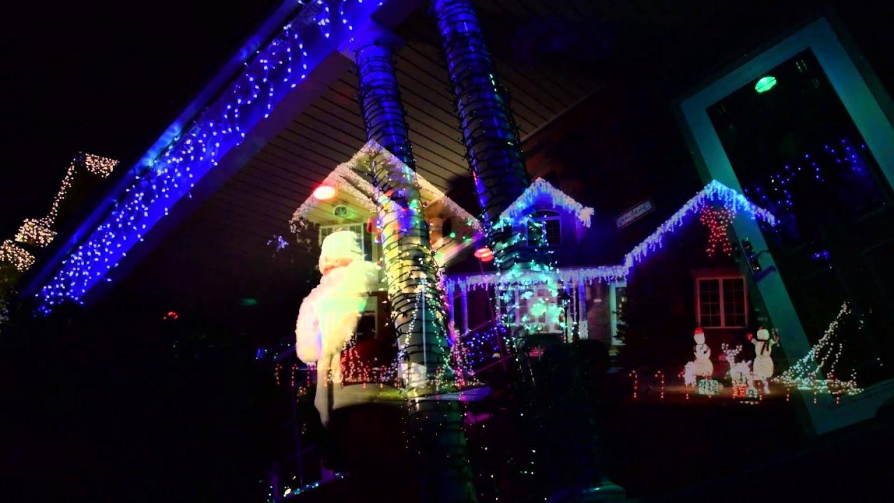 Let It Go Christmas Light Show, Bethlehem PA 2014-15 - YouTube