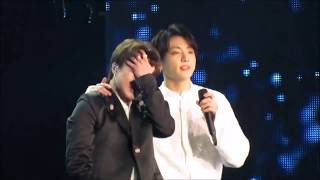 Jimin cried during Truth Untold and Jungkook left his spot to hug him 😭 😭