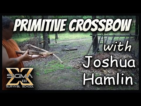 Build a Primitive Survival Crossbow with just a knife and rope