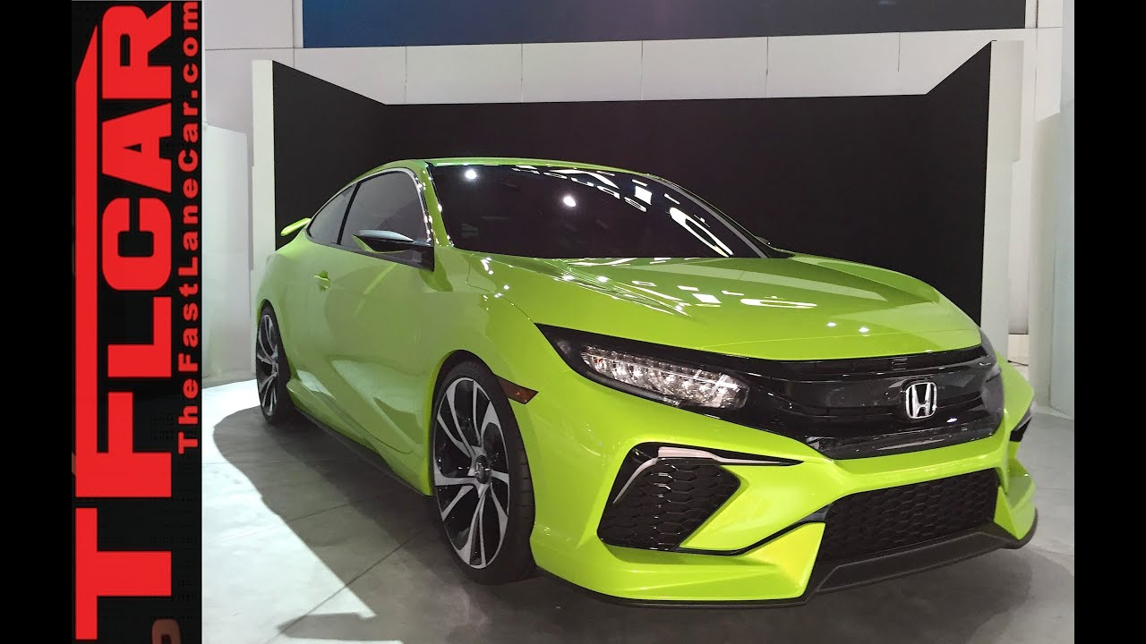 2016 Honda Civic Concept 2015 New York Auto Show One Take