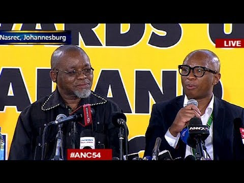 ANC 54th Conference Press Briefing 18 December 2017