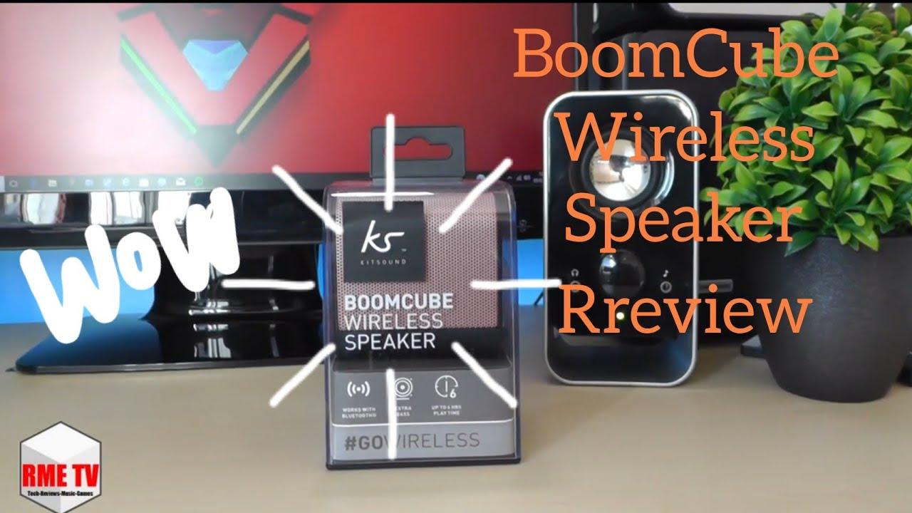 Kitsound BoomCube Wireless Speaker Reivew  WirelessSpeakers - YouTube d8aacdfd3fdec