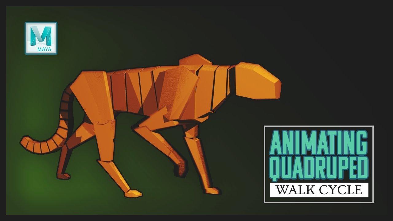Quadruped Walk Animation (Autodesk Maya Tutorial)