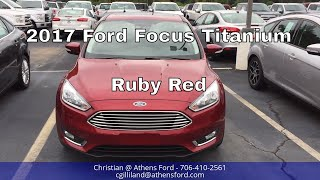 2017 Ford Focus Titanium - Focus Sedan - Ruby Red - Walk Around and Look Inside