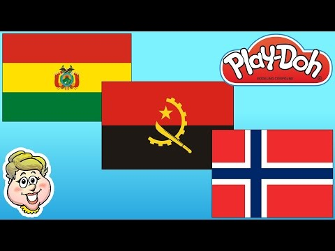 Play-Doh Flags! Bolivia, Angola, And Norway!  EWMJ #278