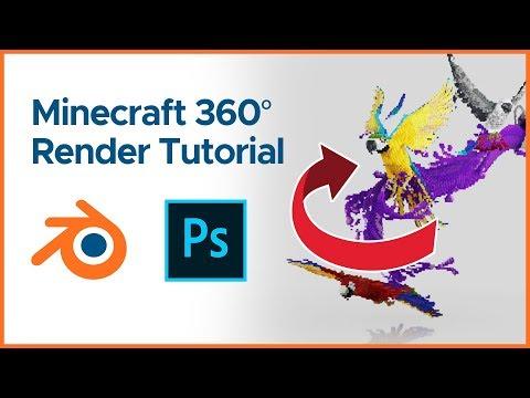 minecraft-360°-gif-render-tutorial- -blender-2.8-+-photoshop