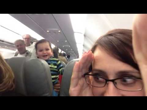 Laughing Baby on Airplane -- So Cute!!