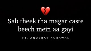 CONTROL YOUR TEARS - Poetry on Intercaste Relationship Ft. Anubhav Agrawal - iwritewhatyoufeel