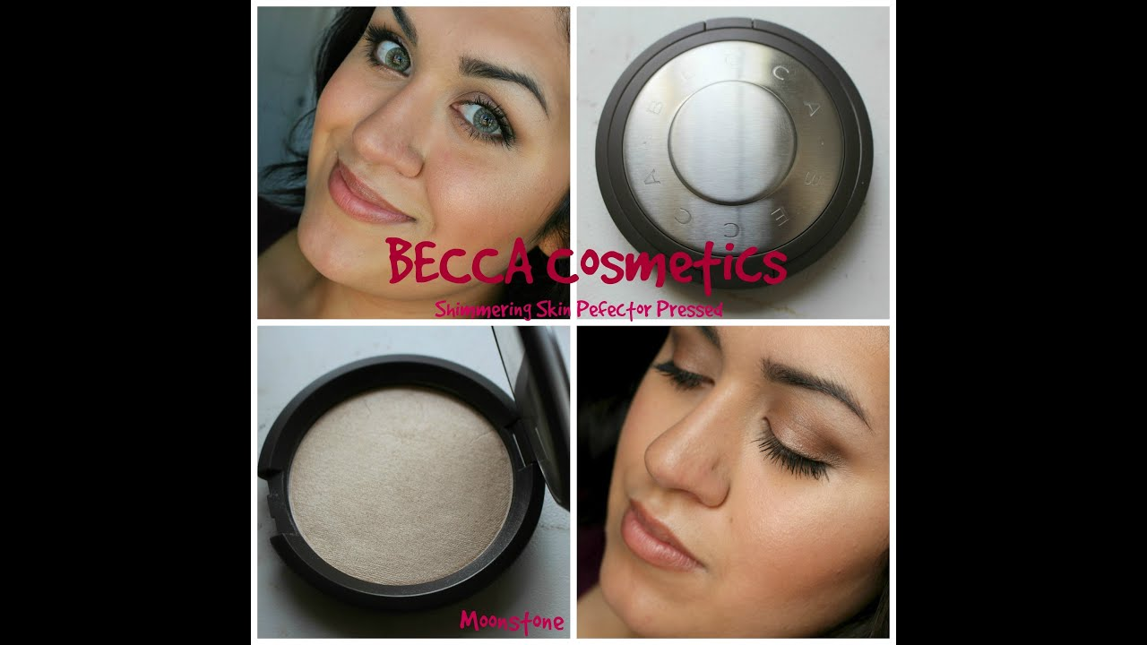 BECCA Shimmering Skin Perfector Pressed Moonstone - YouTube
