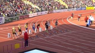 20140618 Zlatá Tretra Ostrava 100m veteráni