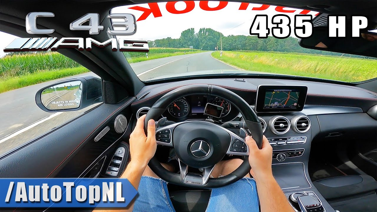 Mercedes C43 AMG 435HP *BRABUS EXHAUST* POV by AutoTopNL