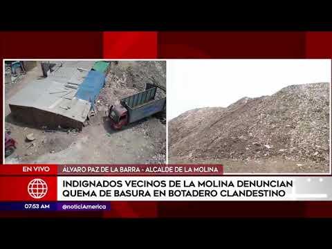 Primera Edición: Denuncian quema de basura en botadero clandestino