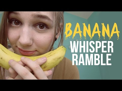 ASMR Eating Slices of Banana & Apple + Whisper Ramble