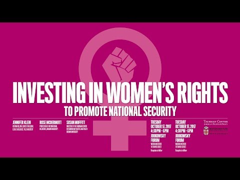 Investing in Women's Rights to Promote National Security