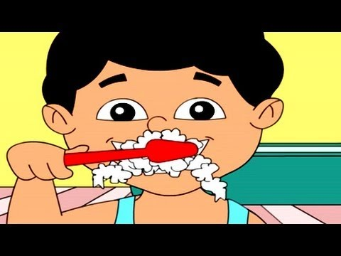 Nursery Rhymes - Tooth Brush, ' English Animation'