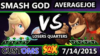 S@X 106 Customs - Average Joe (Donkey Kong) Vs. Smash God (Rosalina) SSB4 LQ - Smash Wii U - Smash 4