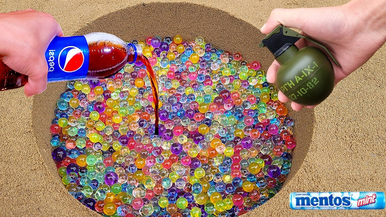 50,000 Orbeez is underground Fun video
