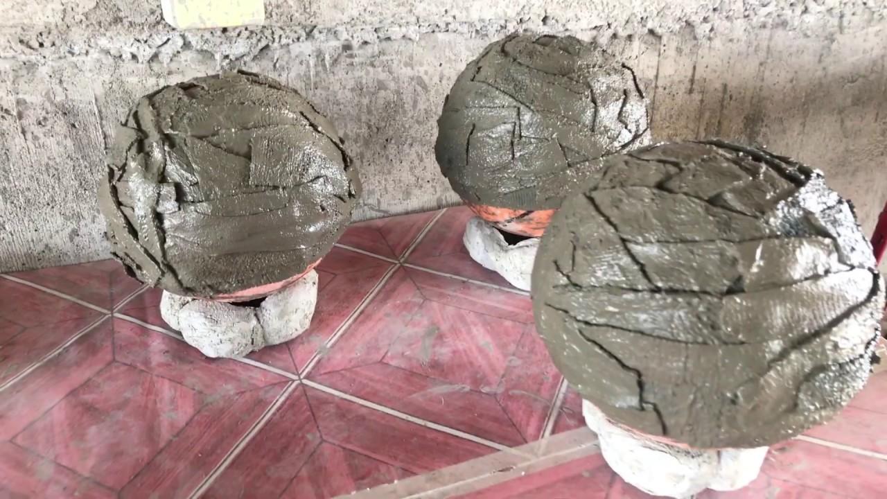 fabric concrete flower planters pots