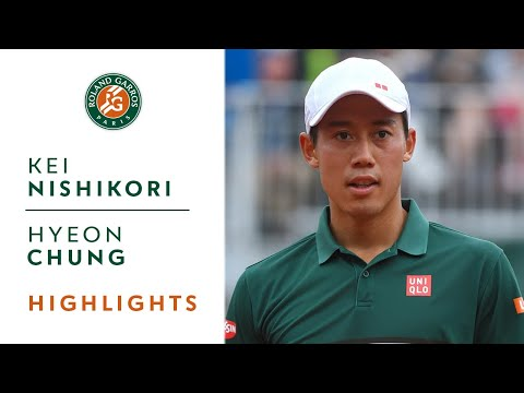 Kei Nishikori v Hyeon Chung Highlights - Men's Round 3 2017 I Roland-Garros
