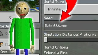 Do Not Join On This Baldi World In Minecraft (Minecraft PE Baldi666.exe Seed)