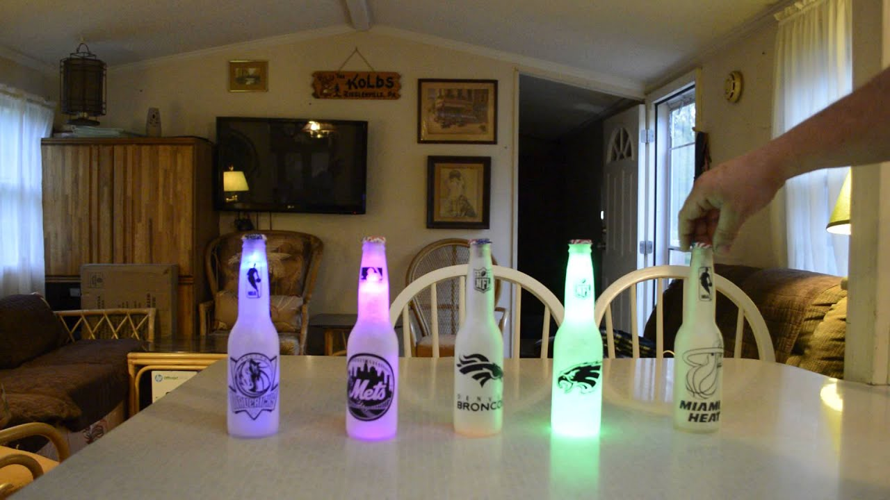 beer bottle led lights youtube