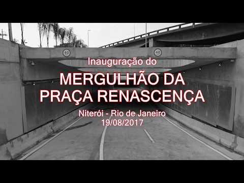Mergulhão da Praça Renascença em Niterói - Inauguração