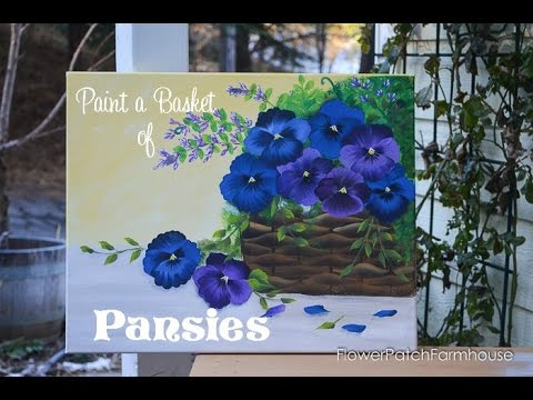 Paint a Basket of Pansies