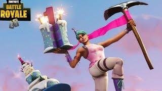 GETTING THE BIRTHDAY BACK BLING!!! (Fortnite:Battle Royale)