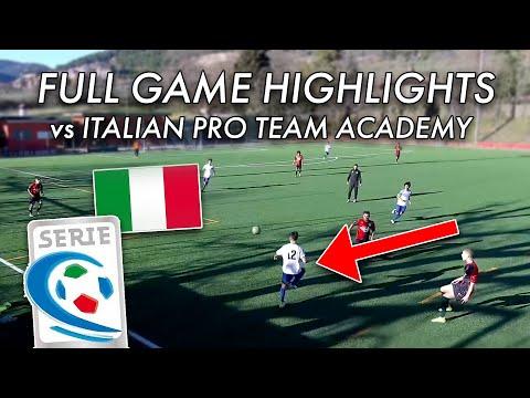 My Highlights Vs Pro Italian Team's Academy (Serie C)   Game Analysis