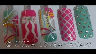 (Part 4) Girly Abstarct Spring Nail Art Tutorial: The First Finger