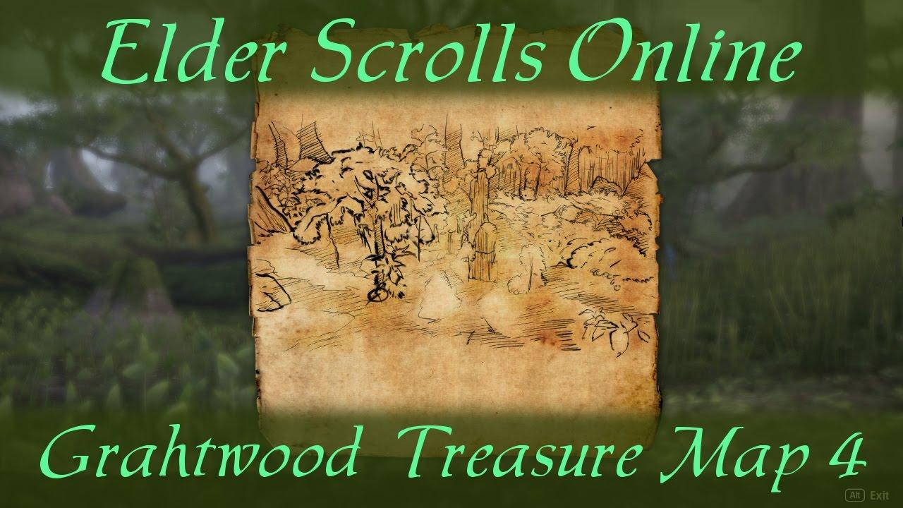 Grahtwood Treasure Map 4 [Elder Scrolls Online ESO] - YouTube