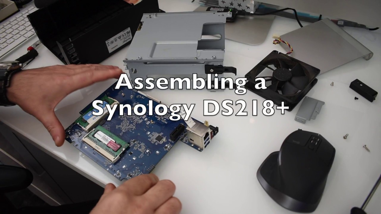 Synology DS218+ A Look Inside, RAM change, upgrade - part 2 (Assembling)