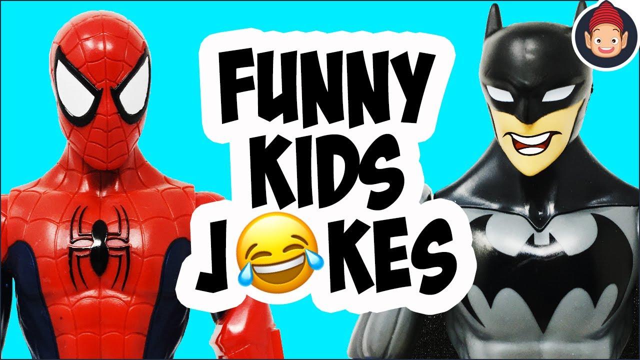 Funny Kids Jokes Told By Spider-Man & Batman