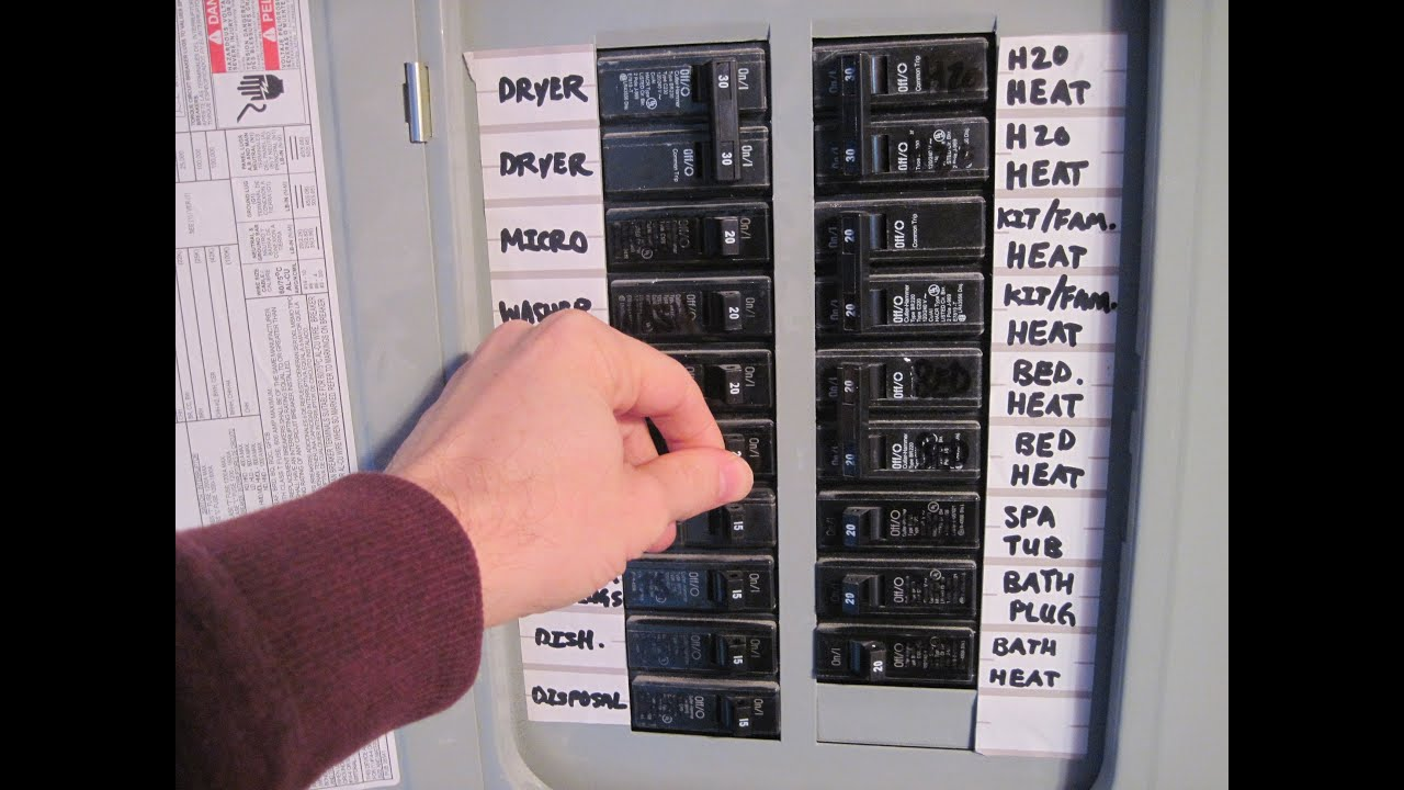 maxresdefault how to reset a tripped breaker youtube fuse box trip switch will not reset at fashall.co