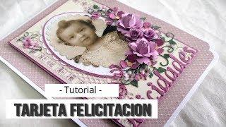 TARJETA FELICITACION CLASICA - TUTORIAL | LLUNA NOVA SCRAP