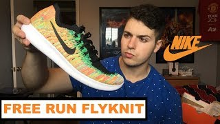 Nike Free Run Flyknit 2017 UNBOXING and REVIEW