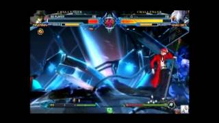 BlazBlue: Chrono Phantasma - Hazama vs Hakumen - 0223