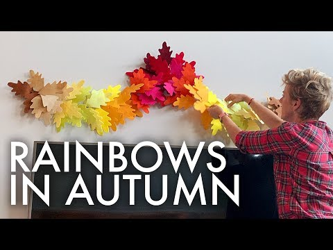 MAKING AN AUTUMN LEAF GARLAND : Adventuring Family of 11