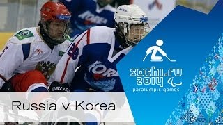 Russia V Korea Full Game | Group Stage  | Ice Sledge Hockey | Sochi 2014 Paralympic Winter Games