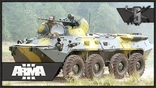 Intense City Close Quarters w/ BTR 80A - ArmA 3 Zeus Gameplay - Russian Persistent Campaign #4