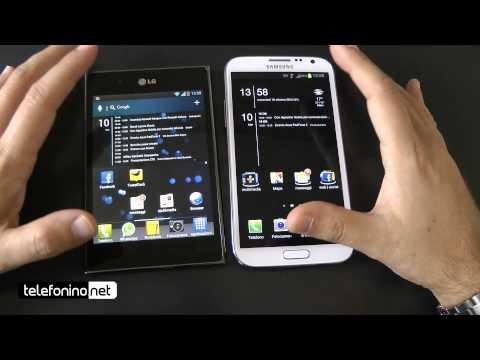 Samsung Galaxy Note 2 versus Lg Optimus Vu da Telefonino.net