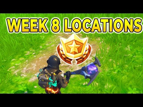 """Search between a Bear, Crater, and a Refrigerator Shipment"" Location Fortnite Week 8 Challenges!"