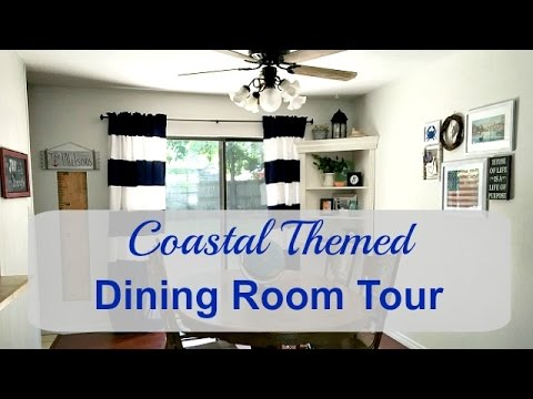 Updated Dining Room Using What I Already Had (Coastal Theme)