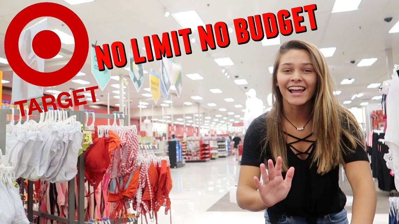 THE TARGET NO LIMIT NO BUDGET SHOPPING CHALLENGE! - YouTube