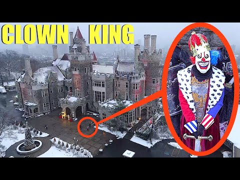 when your drone sees the CLOWN KING at his Royal Clown Castle, Do not make him mad!! (We escaped)