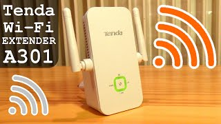 Tenda A301 Wi-Fi Range Extender 300Mbps | Unboxing Configuration Settings Test